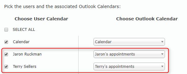 Calendar Selection