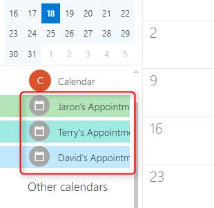 Synced Calendar