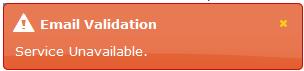 Service unavailable
