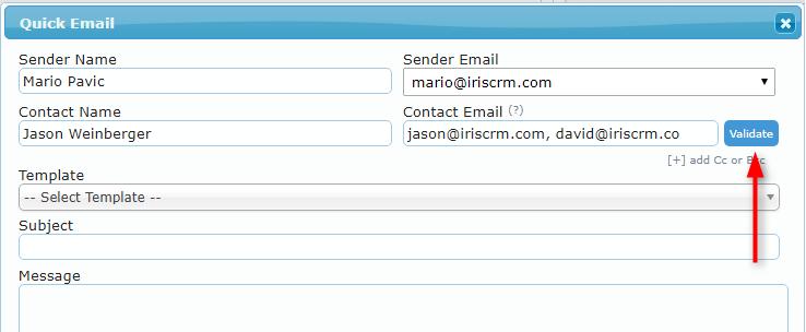 Quick Email Validate