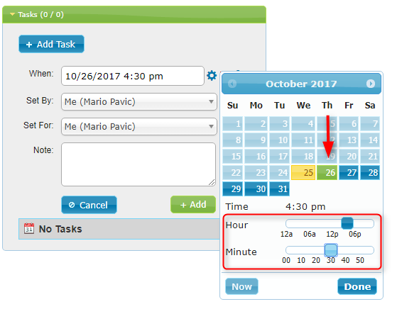 Calendar Date Picker Open