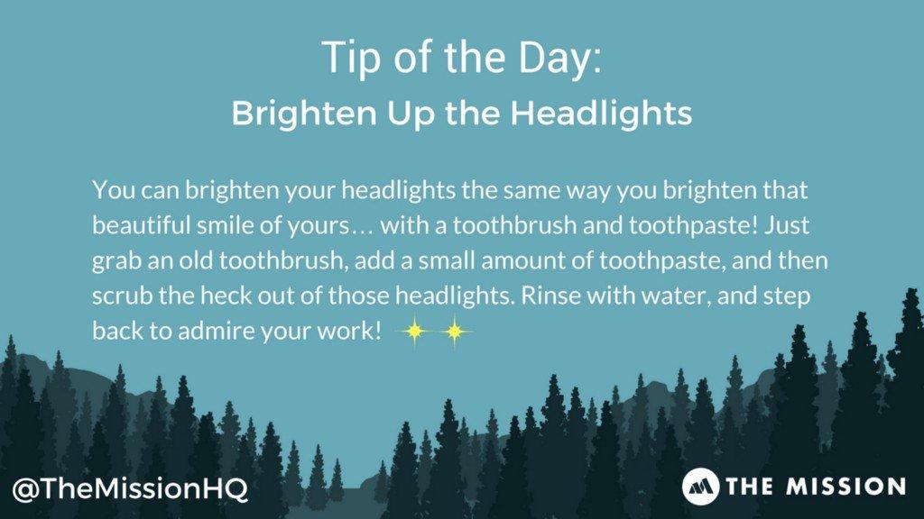 Brighten Up the Headlights