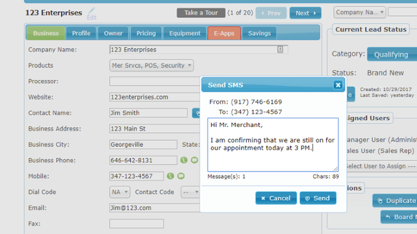 Integrated Inbound and Outbound SMS CRM