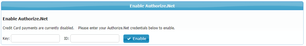 Authorize.Net Activation