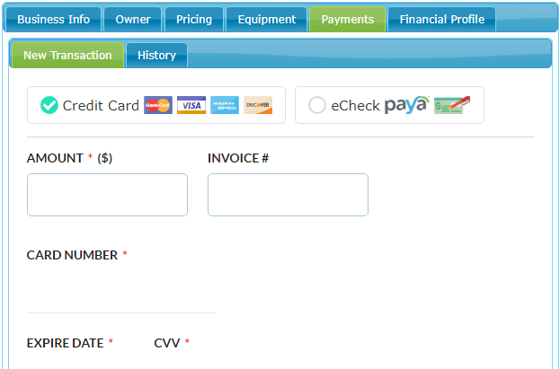 New Payment Interface
