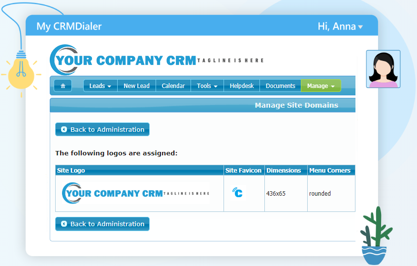 Branding Options in your customized user interface screen