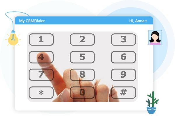 Power Dialer IVR Numbers pad