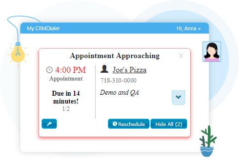 Upcoming Appointment Notifications