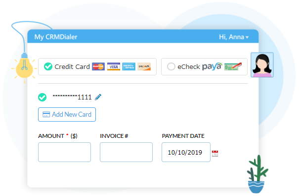 Collect Credit Card Payments User Interface