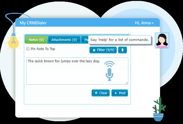 Speech Recognition User Interface screen