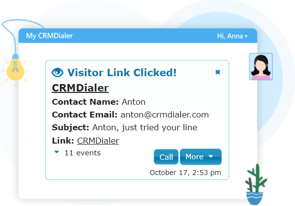 Visitor Tracking Notifications Screen
